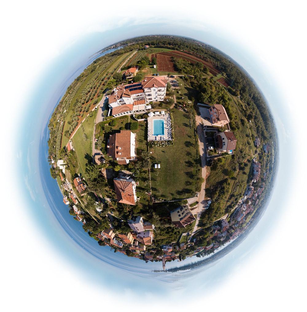 air panorama villa badi kroatien