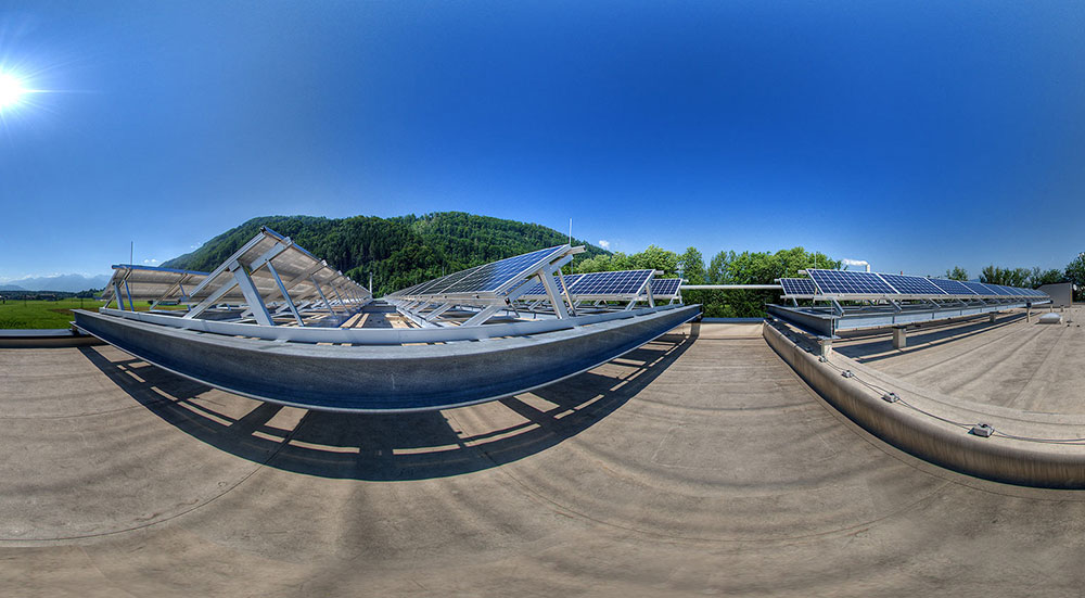 360 panorama industrie Photovoltaik Anlage