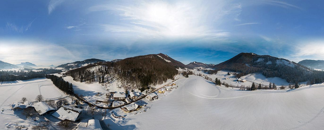 air panorama 360 grad ramsau
